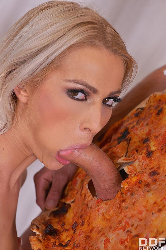Delicious Surprise: Blonde Babe Swallows Massive Dick #5