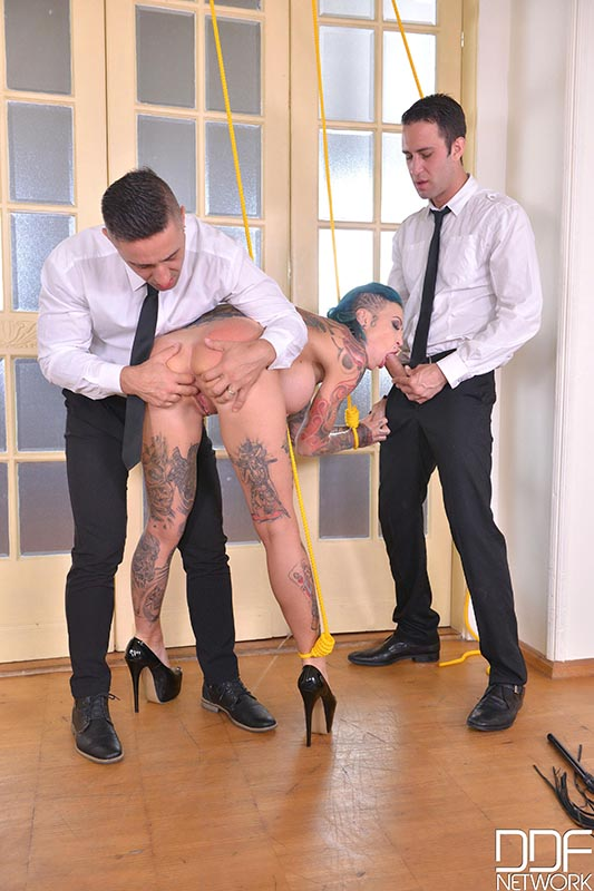 Tied Up And Fucked - A BDSM Businessman's Dream Cums True #4