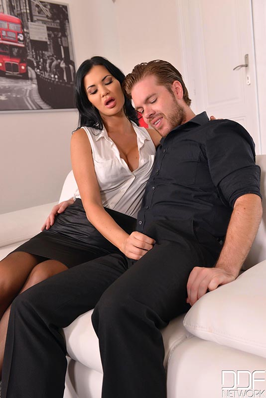 Sit & Watch - Submissive Husband Watches Wife's Cowgirl Ride #1