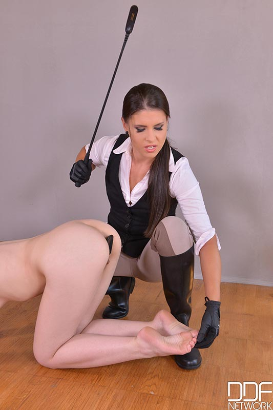 Equestrian Spanking - A Petite Teen's Anal Insertion Experience #5