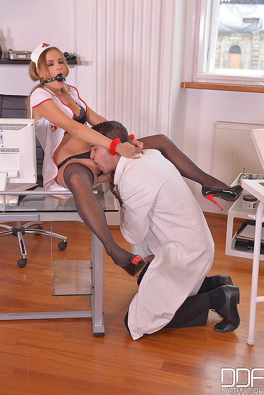 Backdoor Clinic - Submissive Russian Nurse Fucked in The Ass #2