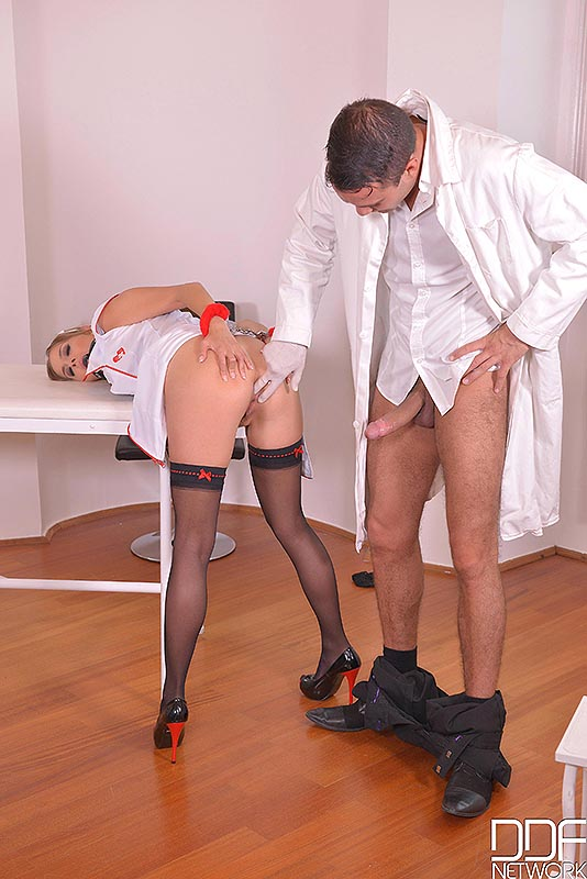 Bdsm prescription handcuffed and gagged in the clinic 9
