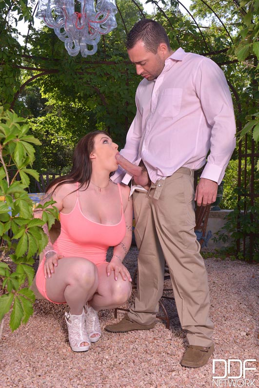 Big British Tits - Hot Babe Gets Fucked Hardcore in Backyard #3