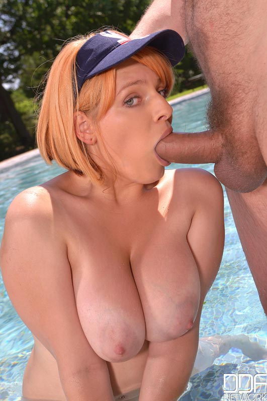 Can big breasted redhead fucked