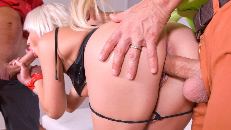 Spanking, Spanking, And Some Wanking - Horny Fetish Threesome
