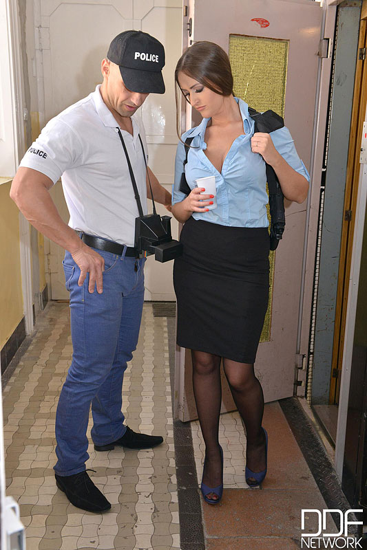 Policewoman's Double Penetration with Crime Unit #3