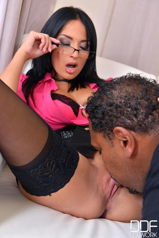 The Office - Black Cock's Jizz on Female Boss's Glasses Video with Franco  Roccaforte & Anissa Kate
