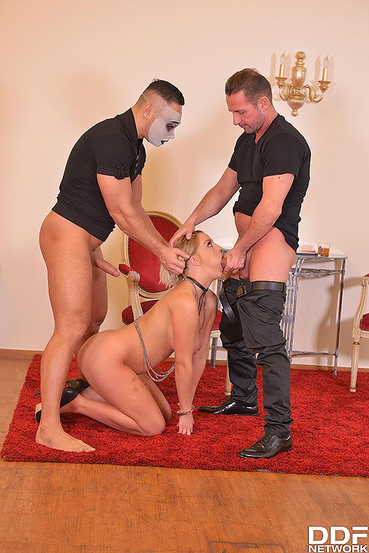 Golden Shower Delight: Two Studs Pee On Squirting Blonde #7