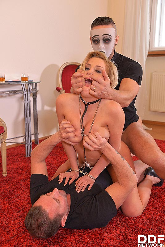 Golden Shower Delight: Two Studs Pee On Squirting Blonde #12