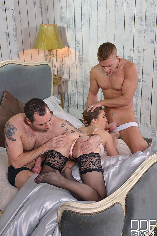 Morning Satisfaction - Russian Bombshell Ass Fucked by Two Lads #7