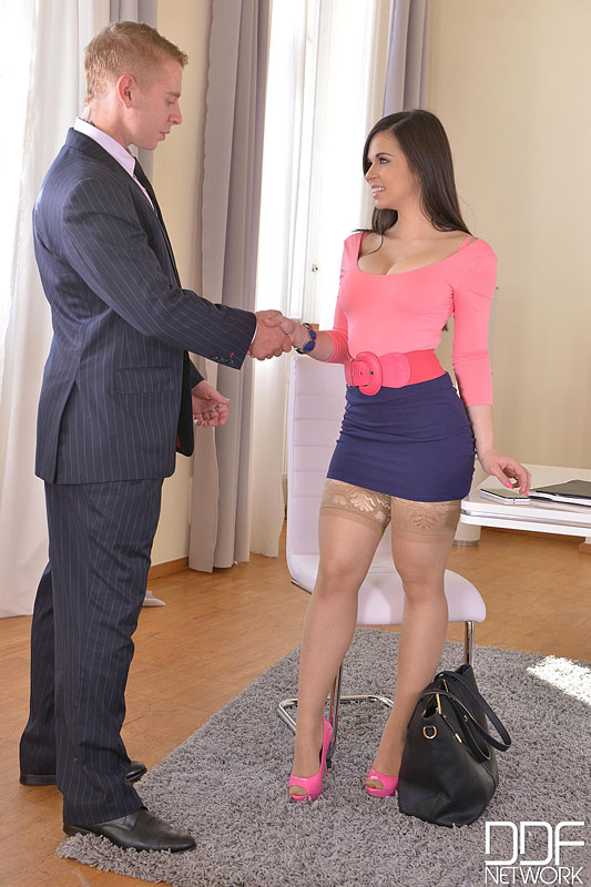 The Job Interview: Young Spanish Hot Babe Banged Twice #1
