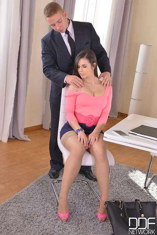 The Job Interview: Young Spanish Hot Babe Banged Twice #2