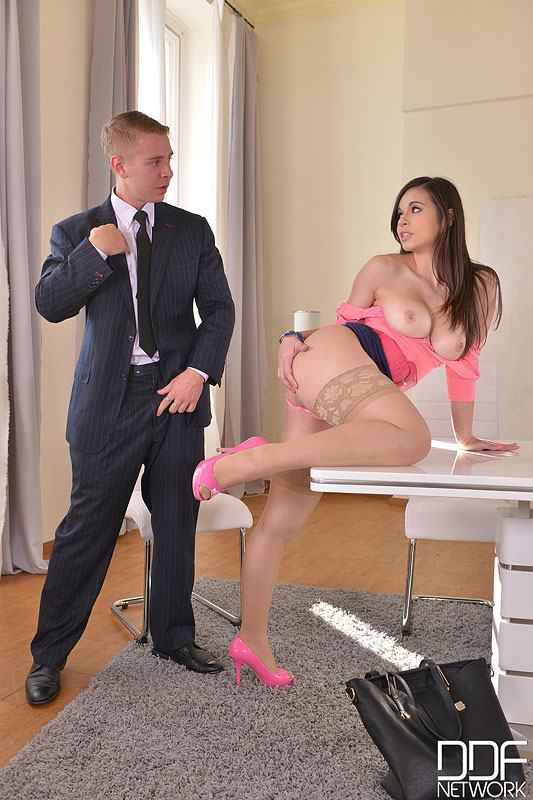 The Job Interview: Young Spanish Hot Babe Banged Twice #8