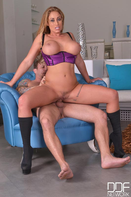 The Stud Relief - Large Cock Bangs Busty Brunette's Giant Tits #10
