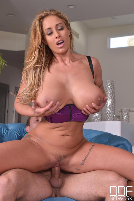 The Stud Relief - Large Cock Bangs Busty Brunette's Giant Tits #11