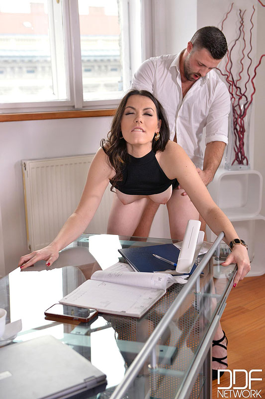 Sarah, Cum In: Super Hot Babe Eases Everyday Office Life #8