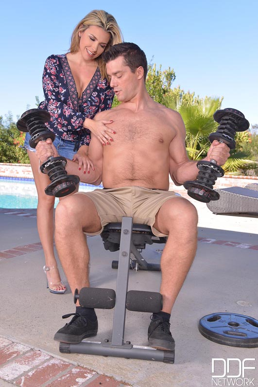 Muscle Man in Action - Hard Cock Fucks Big Tits Of Blonde American #3