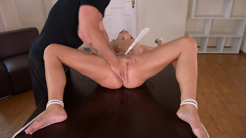 HouseOfTaboo - Tied Up & Spanked: Submissive Babe's Deep Throat Treatment