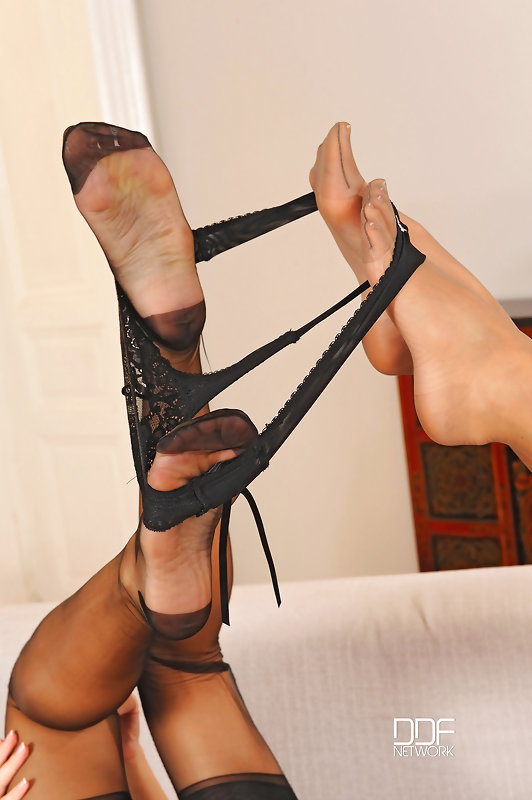 Nasty lesbians in footfetish action #6