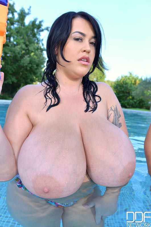 Nude swimming pool big girl boobs